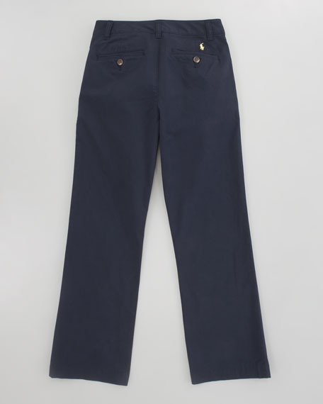 Suffield Flat-Front Chino Pant, Aviator Navy