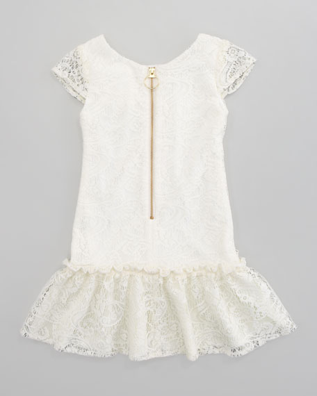 Crochet All-Over Lace Dress, Sizes 8-10