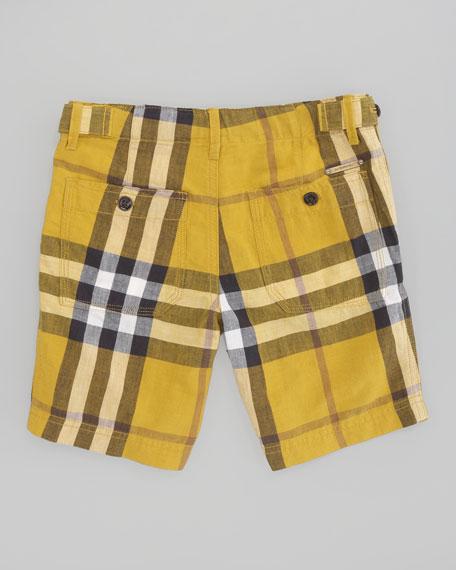 Mini Workwear Check Short, Gorse Yellow