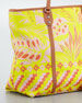 Jesse Tropical Tote Bag, Yellow/Pink
