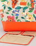 harmony floral-print canvas diaper bag, orange multi