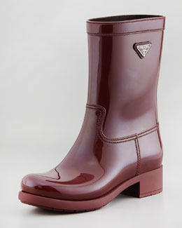 Prada Rubber Rain Boot