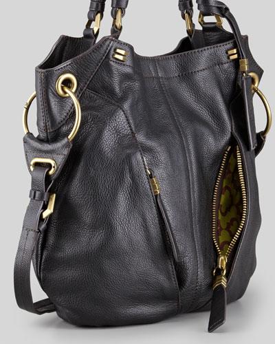 Oryany Gwen Black Leather Shoulder Bag 49