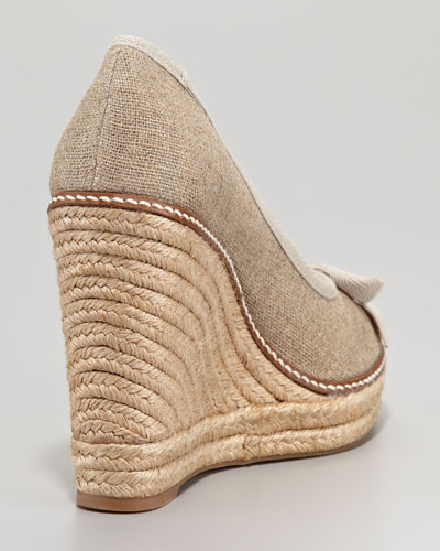 Open Toe Espadrille Wedge Peep-toe Espadrille Wedge