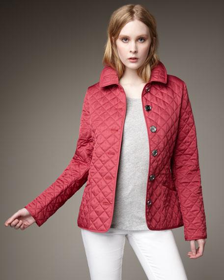 Quilted Coat, Pink Azalea