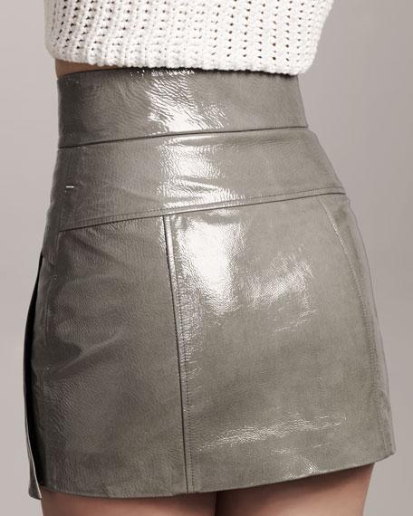Patent-Leather Miniskirt