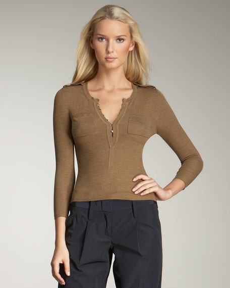Ribbed Silk Sweater