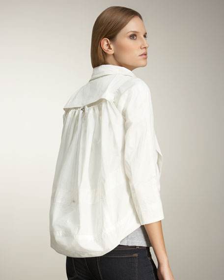 Duffel-Back Jacket, White