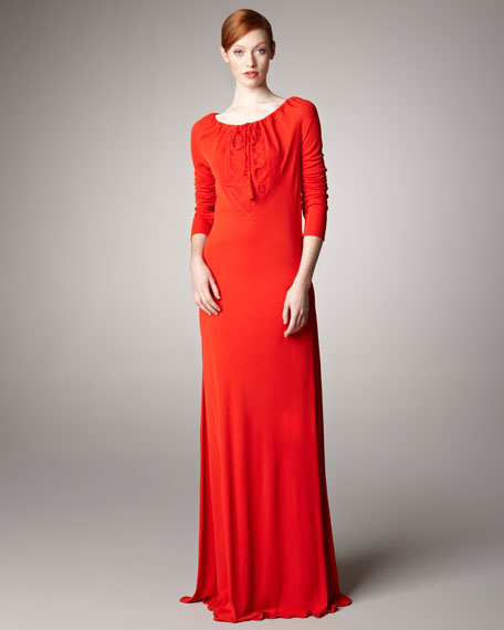Jersey Peasant Dress