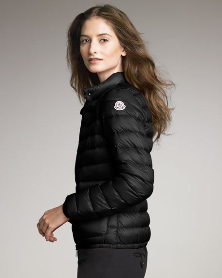Lightweight Puffer Jacket, Black