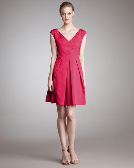 Cap-Sleeve A-Line Dress