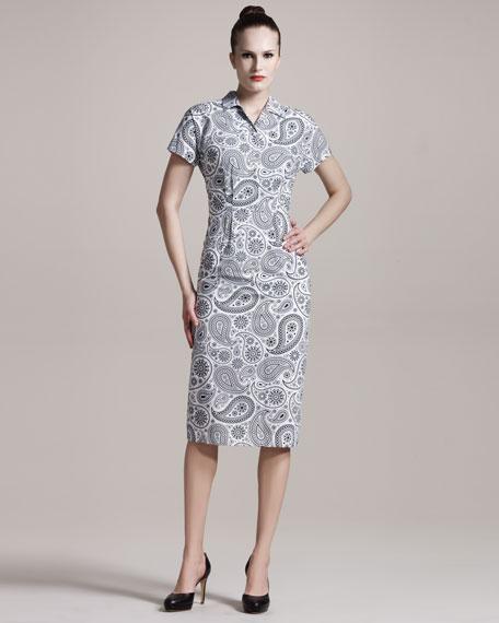 Paisley-Print Shirtdress