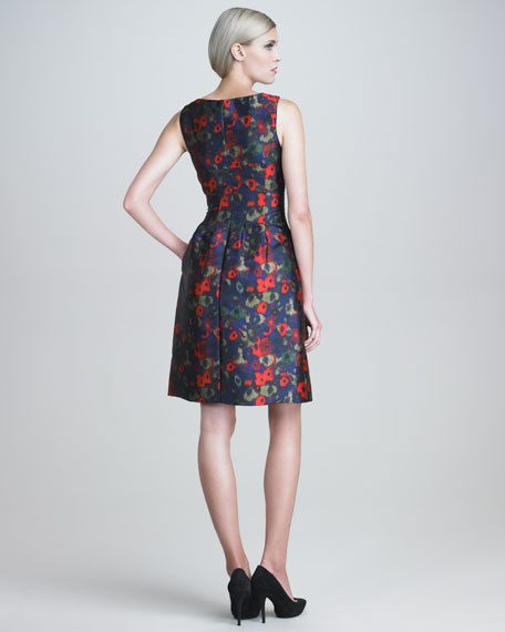 Hazed Floral-Print Dress