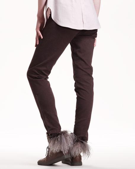 Garment-Dyed Slim Pants