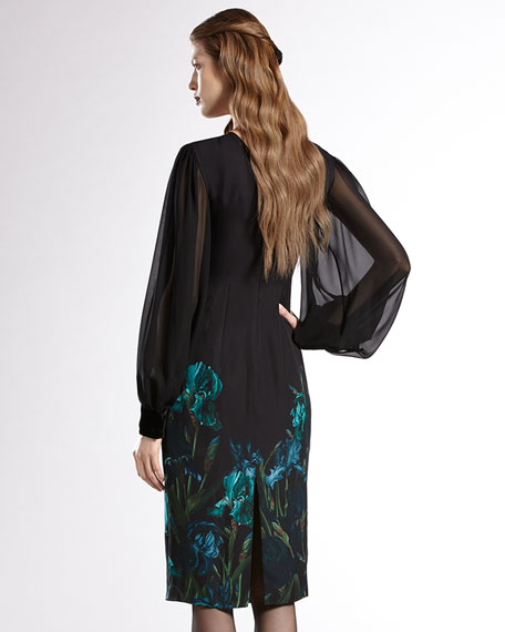 Giaggioli-Print Silk Dress