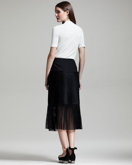 Plisse Mesh Skirt