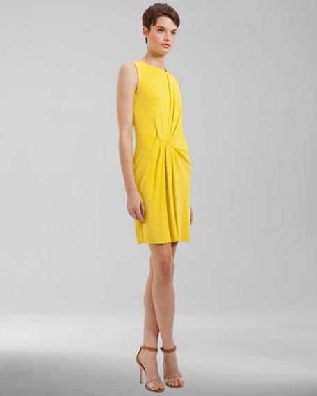 Draped Jersey Dress, Citron