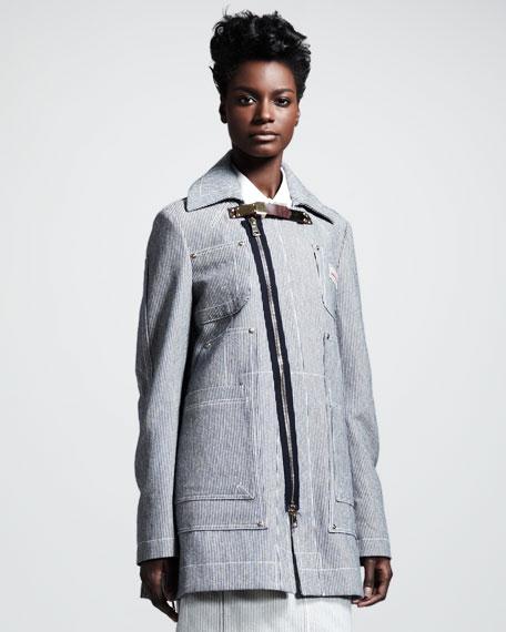Gail Striped Canvas Coat