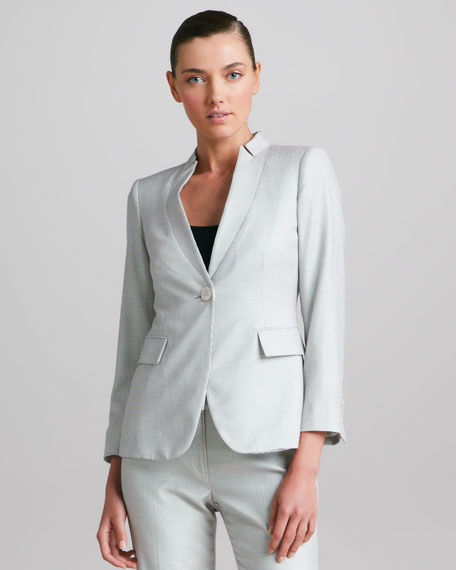 Macro-Dot Inverted Lapel Jacket