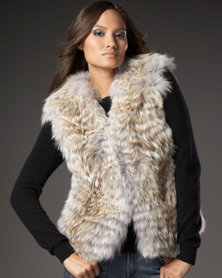 Feathered Coyote Vest
