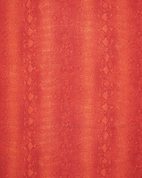 Stella McCartney Python-Print Scarf, Electric Red