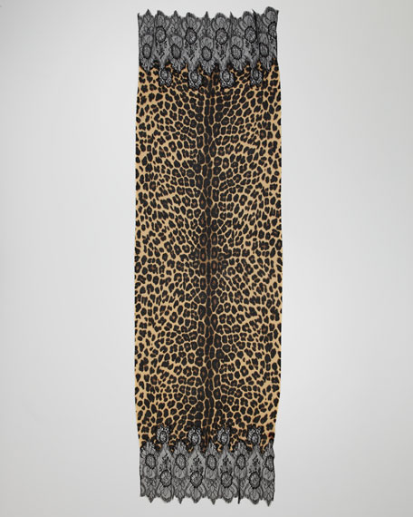 Jaguar-Print Shawl