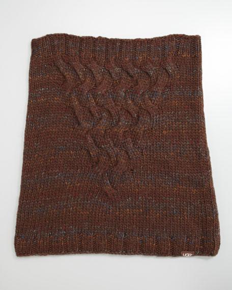 Bococa Knit Snood, Mahogany