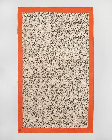 Cheetah-Print Scarf