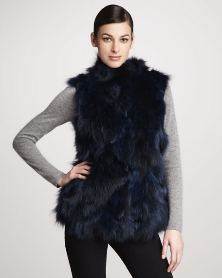 Roadie Sectioned Fox Fur Vest