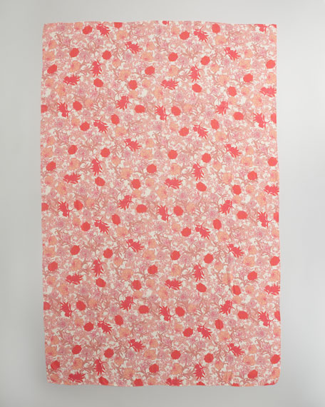 Spring Floral Scarf, Coral