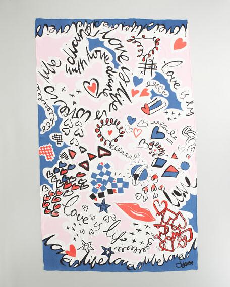 Doodle Love Valencia Scarf