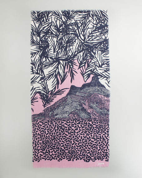 Linescape Hanover Scarf, Plum Forest Frosty Pink