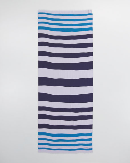 Painted Bold Stripe Scarf
