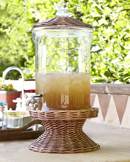 Willow and Glass Beverage Dispenser