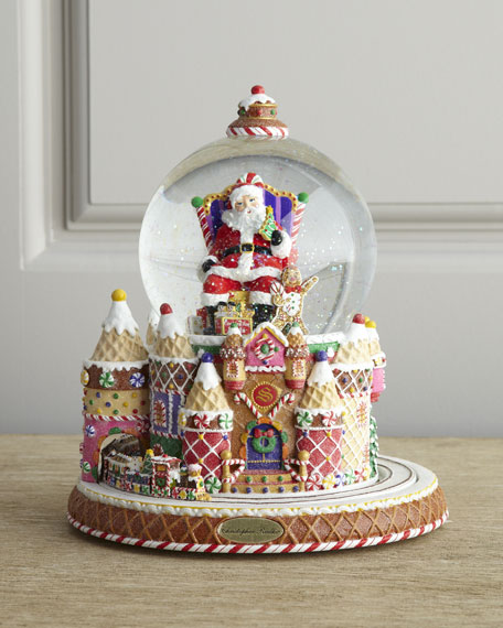 christopher radko quotsanta and sweet treatsquot snow globe