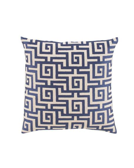 """Greek Key"" Accent Pillow"