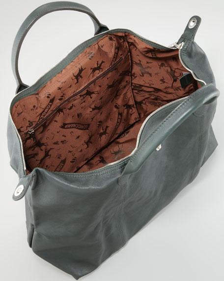 Le Pliage Cuir Large Tote Bag