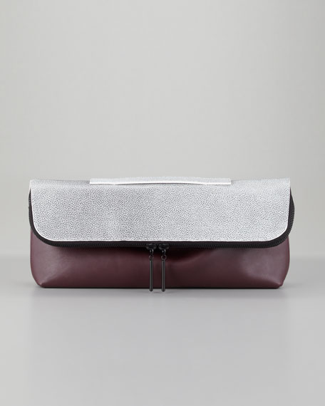 31 Minute Fold-Over Bag, Bordeaux/Black