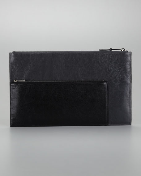 Multi Large Pouch, Gray/Black