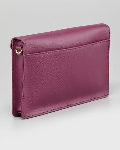Robinson Large Envelope Clutch Bag, Pretty Violet