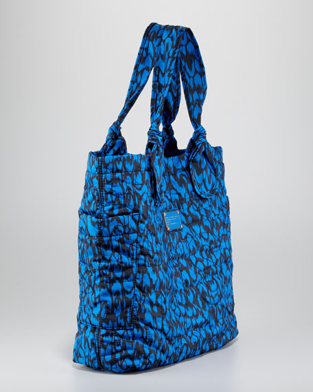 Pretty Tate Nylon Graphic Tote Bag, Blue