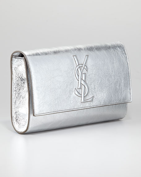 2e518d1764 Yves Saint Laurent Belle De Jour Clutch Bag, Silver