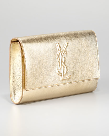 25d0f229b8 Yves Saint Laurent Belle De Jour Clutch Bag, Gold