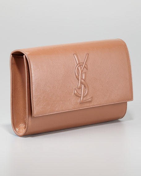 yves saint laurant bag - Yves Saint Laurent Belle De Jour Clutch Bag, Nude