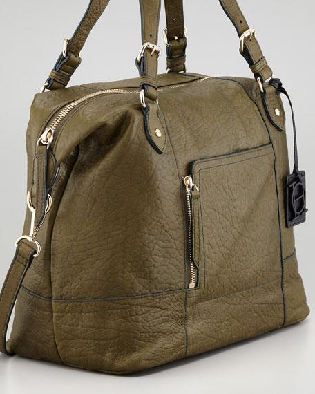 Unzipped Satchel Bag, Olive