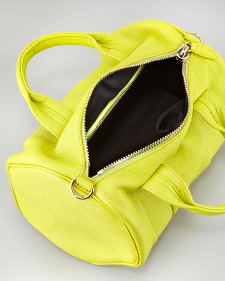 Rocco Stud-Bottom Duffel Bag, Acid Yellow