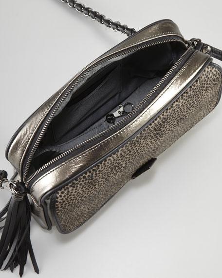 Metallic Calf Hair Shoulder Bag