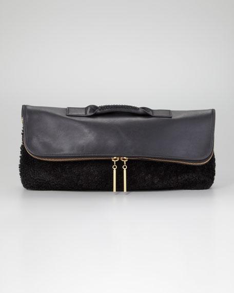 31 Minute Shearling Clutch Bag