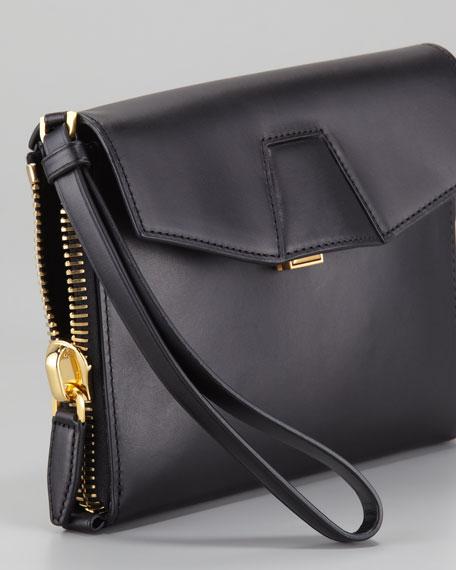 Lydia Wristlet Clutch Bag, Black