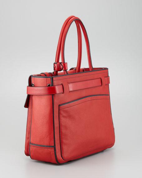 Boxer I Tote Bag, Crimson